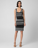 Le Château Stripe Jersey V-Neck Tunic Dress