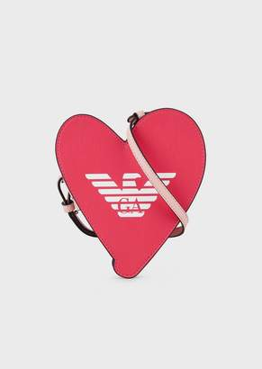 Emporio Armani Heart-Shaped Shoulder Bag With Eagle