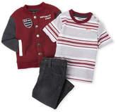 DKNY Infant Boys) 3-Piece Jacket & Jeans Set
