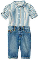 Ralph Lauren Cotton Poplin Shirt & Jean Set