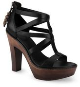 UGG Salima Leather High-Heel Sandals