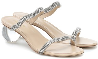 Cult Gaia Aubrey crystal-embellished sandals