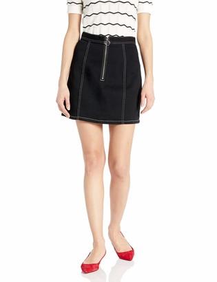 BB Dakota Junior's Denim Zip Front Skirt