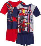 Marvel Marvel's Avengers 4-Pc. Cotton Pajama Set, Little Boys & Big Boys