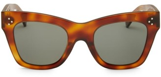 Celine 50MM Tortoise Cat Eye Sunglasses