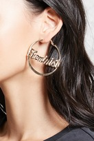Forever 21 Feminist Hoop Earrings