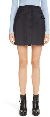 Acne Studios Ivette Pinstripe Wool Miniskirt