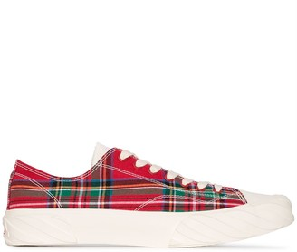 Age Tartan Canvas Low-Top Sneakers