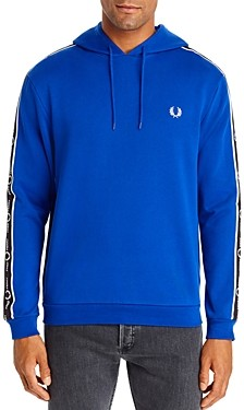 Fred Perry Logo Stripe Hooded Sweatshirt