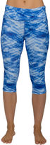 Jockey Cloudscape-Print Judo Capri Leggings