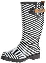 Chooka Women's Ziggy Stripe Rain Boot