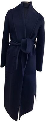 Ermanno Scervino Blue Wool Coat for Women
