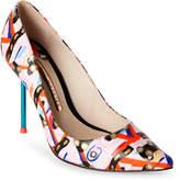 Sophia Webster Coco Flamingo Printed Pointed Toe High Heel Pumps