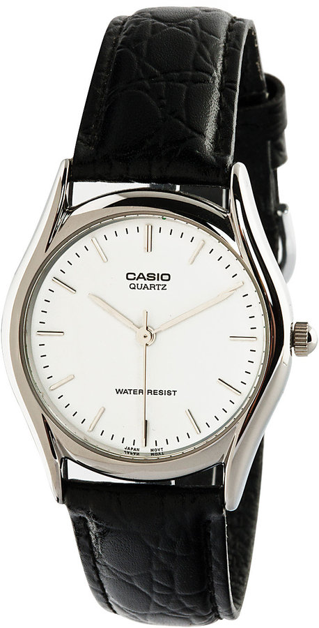 Casio MTP1094E-7A Black Leather Analog Watch