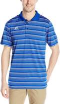 Russell Athletic Men's Striped Jersey Golf Polo, Royal/White