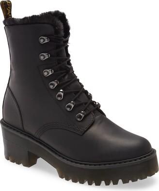 Dr. Martens Leona Faux Fur Lined Block Heel Platform Boot