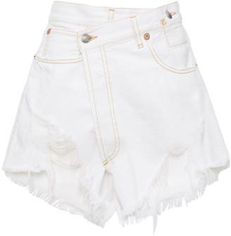 R 13 Nico Distressed Denim Shorts