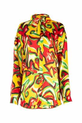 Balenciaga Abstract Floral Print Shirt