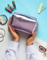 South Beach Pink Metallic Makeup Bag