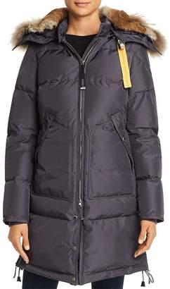 Parajumpers Long Bear Fur-Trim Down Coat