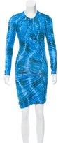 Torn By Ronny Kobo Draped Printed Dress
