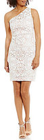 Calvin Klein One-Shoulder Lace Sheath Dress