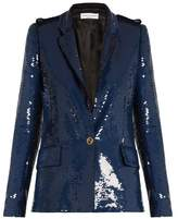 Sonia Rykiel Sequin-embellished single-breasted blazer