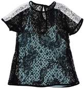 Nanette Lepore Black & White Lace Short Sleeve Top