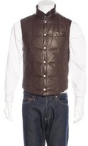 Brunello Cucinelli Quilted Leather Reversible Gilet