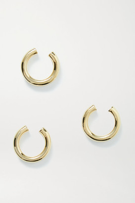 Jennifer Fisher Lilly Set Of Three Gold-plated Ear Cuffs