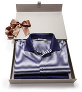 Peter Millar Striped & Solid Polo Box Set, Navy