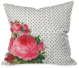 DENY Designs Floral Polka Dots Throw Pillow