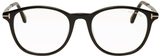 Tom Ford Black Blue Block Soft Rounded Glasses
