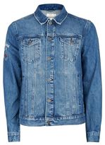 Topman Embroidered Denim Jacket