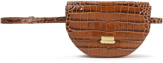 Wandler Annabel Large Convertible Croc-effect Leather Bet Bag