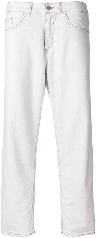 YMC cropped straight jeans