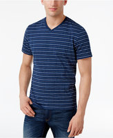 Alfani Men's Stripe V-Neck T-Shirt, Only at Macy's