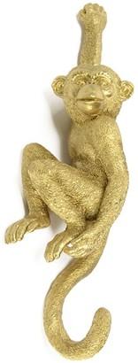 Le Carrousel - Golden Monkey Coat Rack - resin | gold | 9x7x31 - Gold/Gold