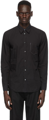 Maison Margiela Black Garment-Dyed Slim Shirt