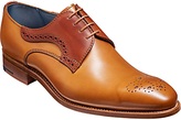 Barkers Cohen Derby Brogues, Chocolate/rosewood