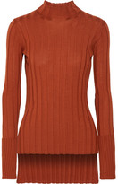 ribbed turtleneck orange - ShopStyle