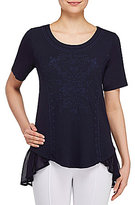 Peter Nygard Embroidered Tunic