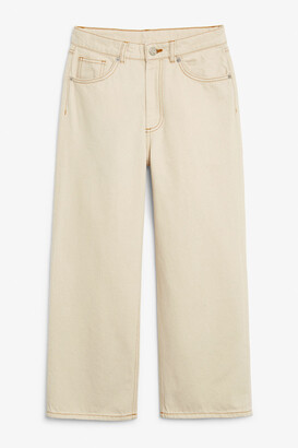 Monki Mozik off-white jeans