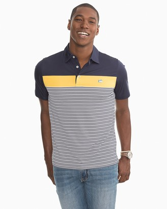 Southern Tide Multi Striped Performance Polo Shirt