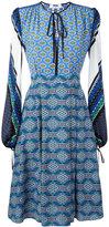 MSGM multi-print flared dress