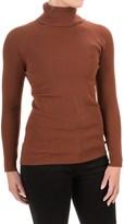 525 America Ribbed Sweater Turtleneck - Rayon-Nylon, Long Sleeve (For Women)