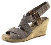 Andre Assous Dennie Open Toe Synthetic Wedge Sandal.