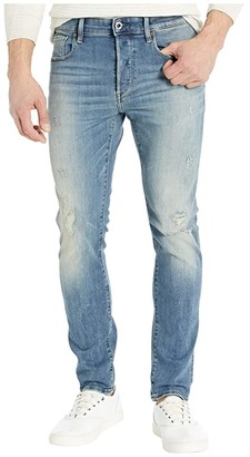 G Star G-Star 3301 Slim in Antic Faded Ripped Marine (Antic Faded Ripped Marine) Men's Jeans