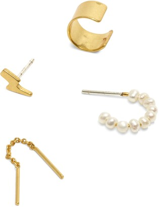 Madewell Pearl Mix & Match Earring Set