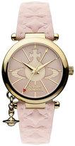 Vivienne Westwood Orb ladies' pink leather strap watch